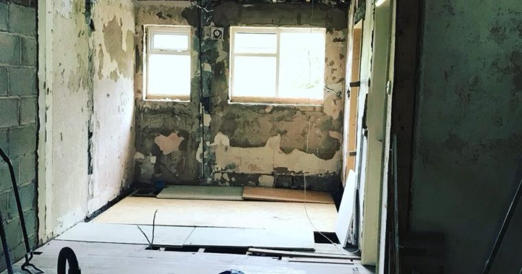 Live-in Renovation. Just a little bit of dust…